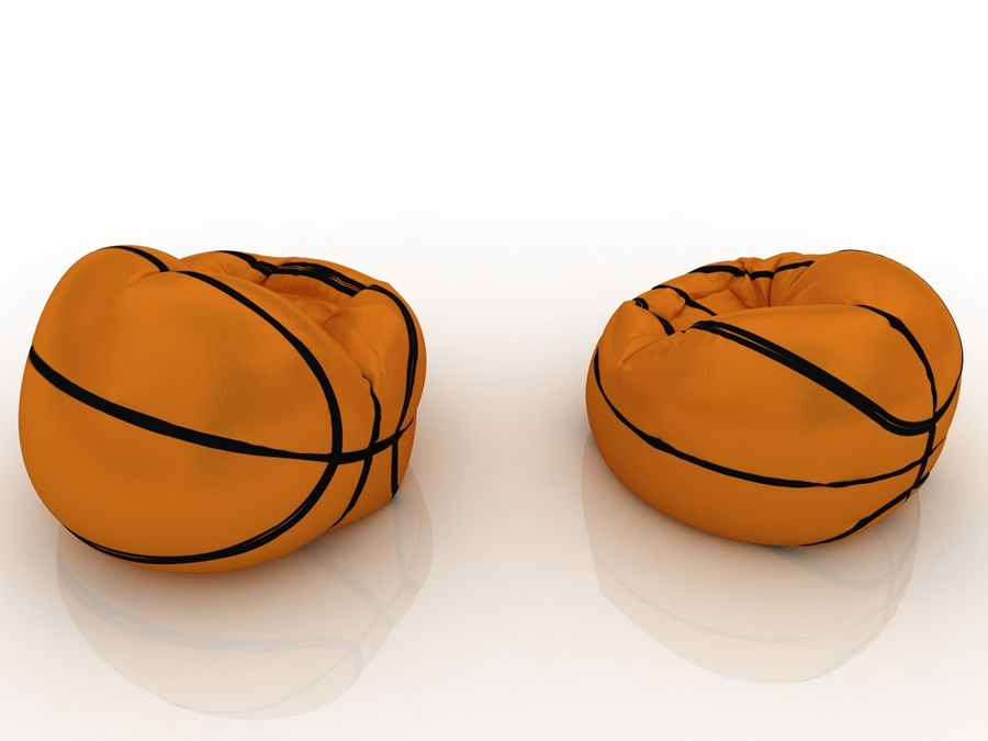 Basketball chair bag royalty-free 3d model - Preview no. 7