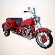Gemotoriseerde driewieler 3d model