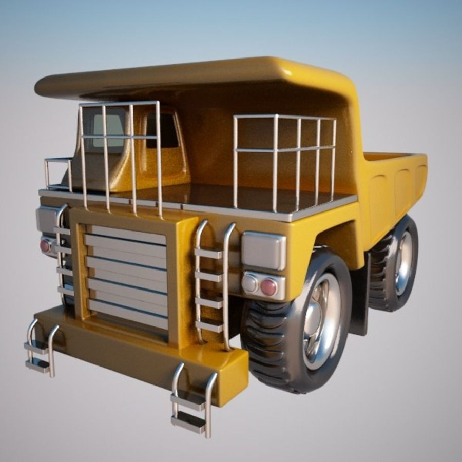 Haul Truck royalty-free 3d model - Preview no. 4