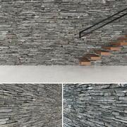 3D Seamless Stone Wall 2 3d model