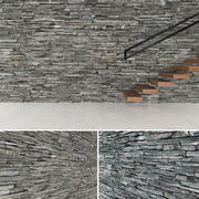 3D Seamless Stone Wall 2 3d model