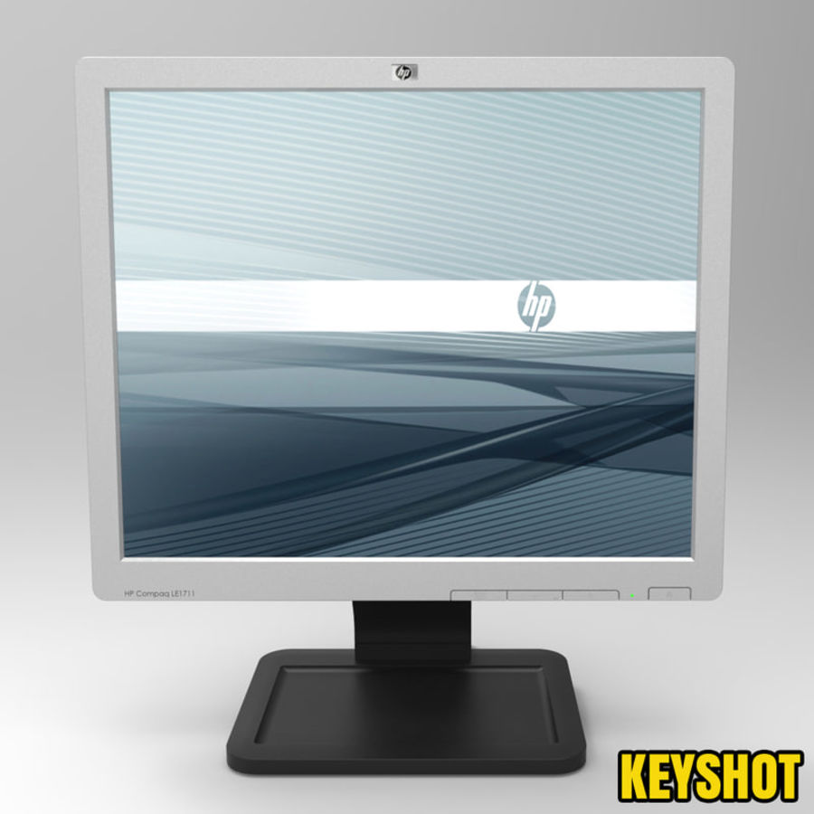 HP COMPAQ LE1711 royalty-free 3d model - Preview no. 2