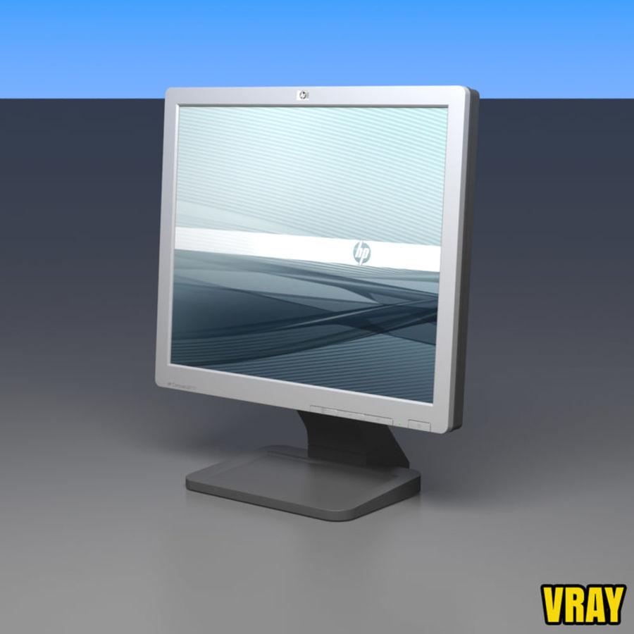 HP COMPAQ LE1711 royalty-free 3d model - Preview no. 11