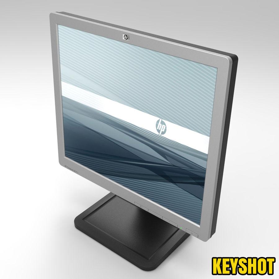 HP COMPAQ LE1711 royalty-free 3d model - Preview no. 3