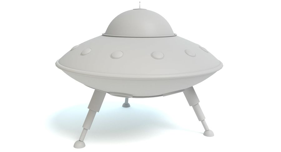 Cartoon Flying Saucer royalty-free 3d model - Preview no. 7