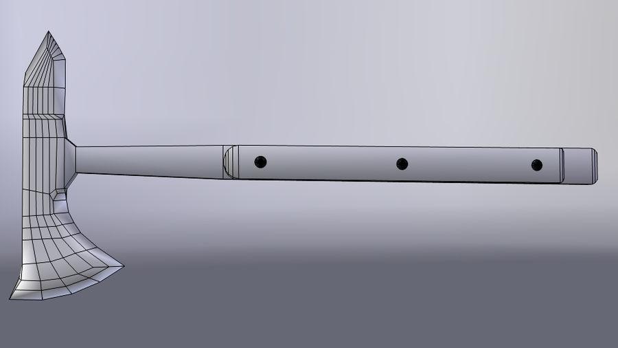 Hacha Táctica Tomahawk royalty-free modelo 3d - Preview no. 3
