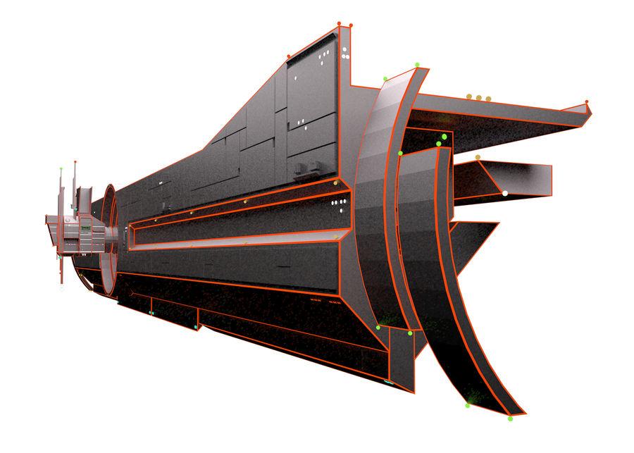 TRON战舰(1982) royalty-free 3d model - Preview no. 3