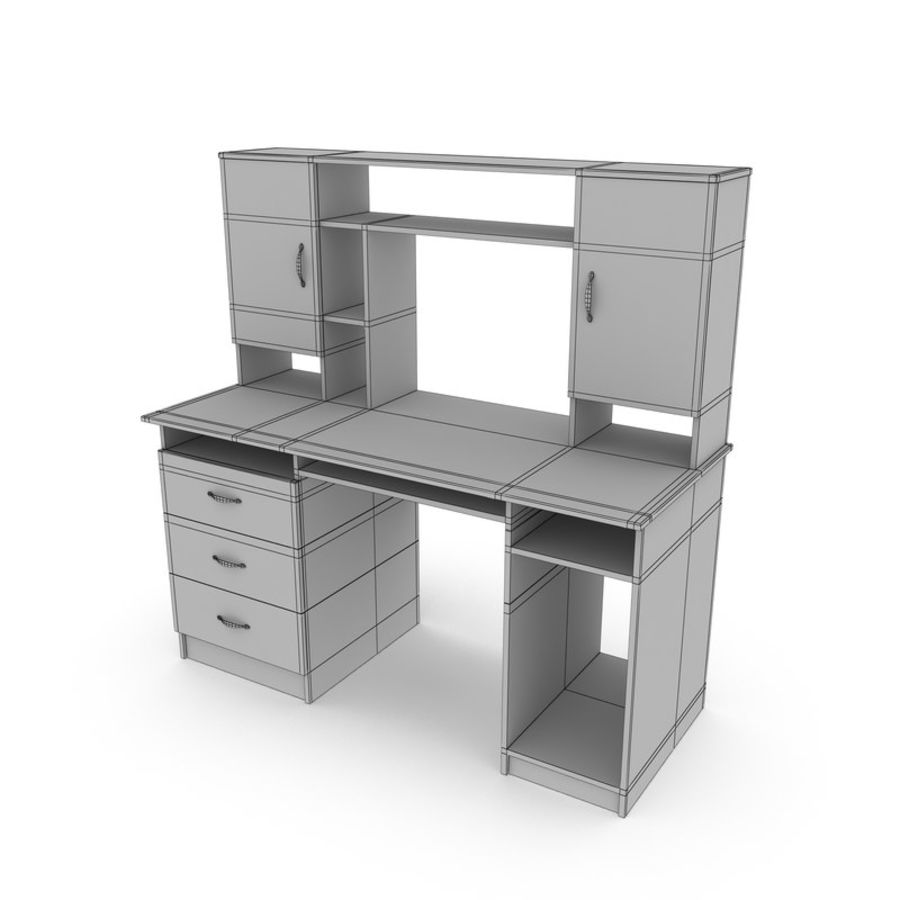 Tavolo per computer royalty-free 3d model - Preview no. 8