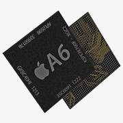 Mobile Chip AX Series A6 3D Model 3d model