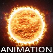 Soleil animé v01 3d model