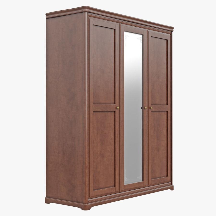 Meble Klasyczna drewniana szafka szafka royalty-free 3d model - Preview no. 5