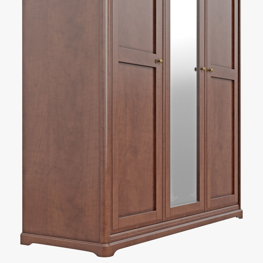 Furniture Classic Wooden Cabinet Cupboard royalty-free 3d model - Preview no. 11