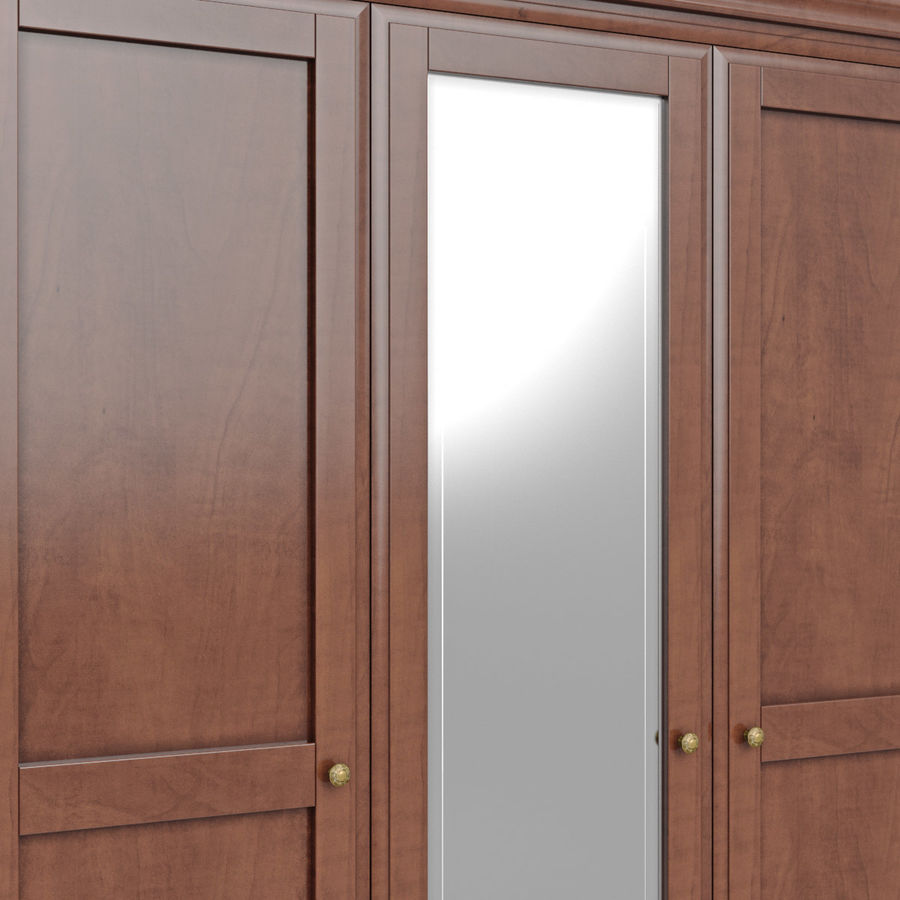 Meble Klasyczna drewniana szafka szafka royalty-free 3d model - Preview no. 10