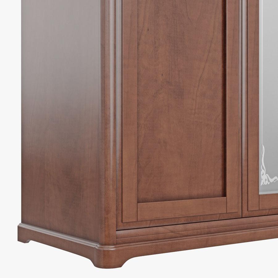 Meble Klasyczna drewniana szafka szafka royalty-free 3d model - Preview no. 8