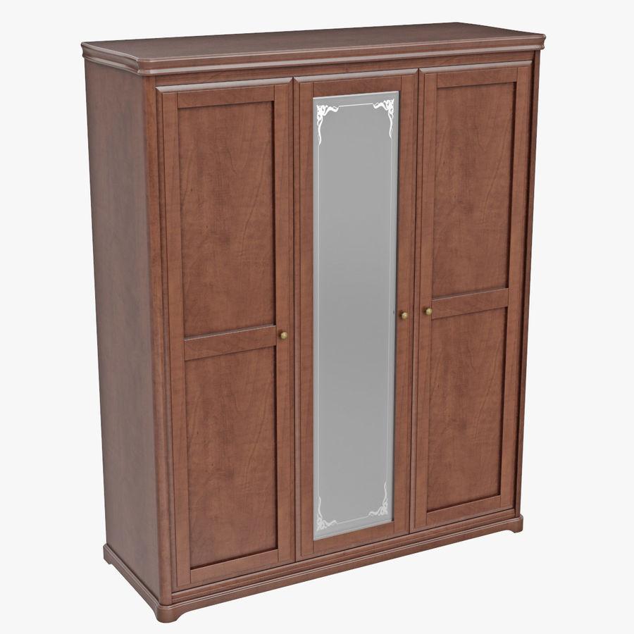 Meble Klasyczna drewniana szafka szafka royalty-free 3d model - Preview no. 7