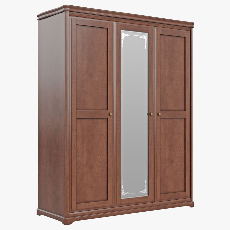 Furniture Classic Wooden Cabinet Cupboard royalty-free 3d model - Preview no. 2