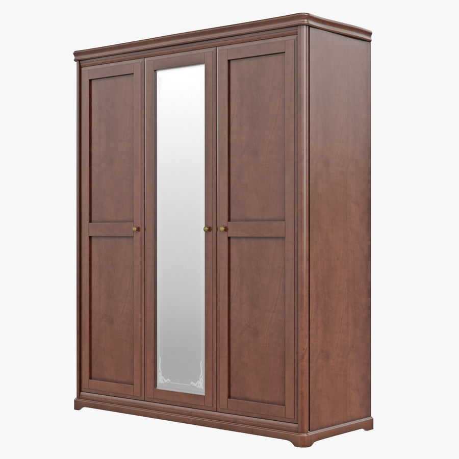 Furniture Classic Wooden Cabinet Cupboard royalty-free 3d model - Preview no. 3