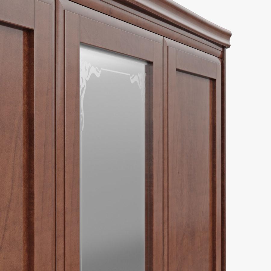 Meble Klasyczna drewniana szafka szafka royalty-free 3d model - Preview no. 9