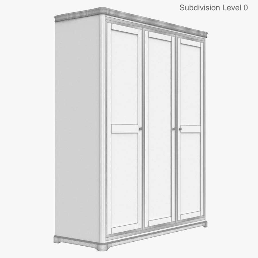 Meble Klasyczna drewniana szafka szafka royalty-free 3d model - Preview no. 15