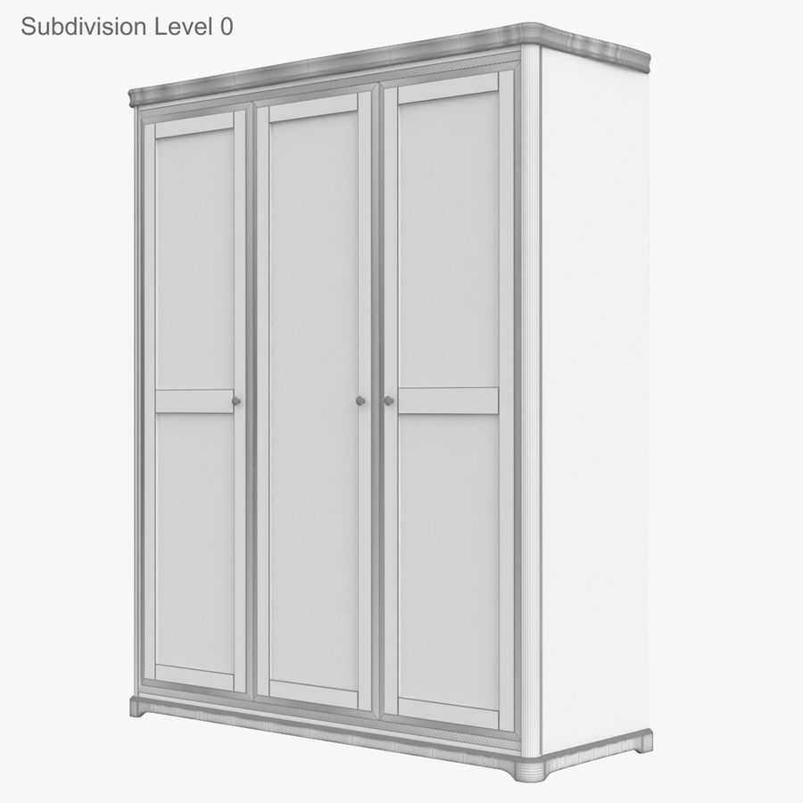 Furniture Classic Wooden Cabinet Cupboard royalty-free 3d model - Preview no. 12