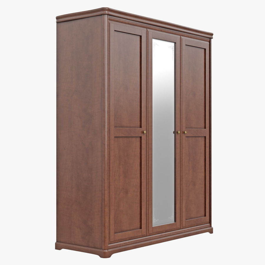 Furniture Classic Wooden Cabinet Cupboard royalty-free 3d model - Preview no. 5