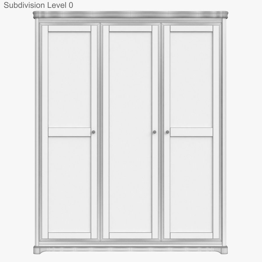 Furniture Classic Wooden Cabinet Cupboard royalty-free 3d model - Preview no. 14