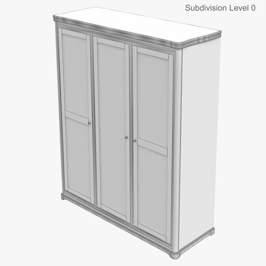 Furniture Classic Wooden Cabinet Cupboard royalty-free 3d model - Preview no. 16