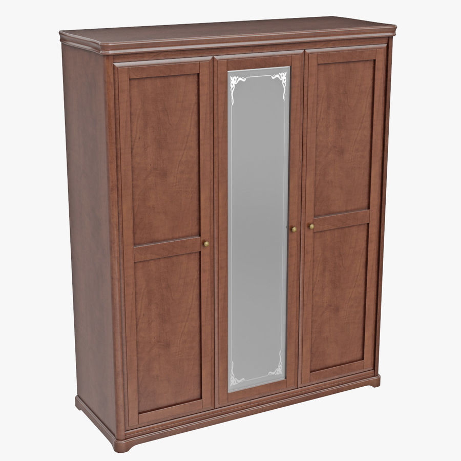 Furniture Classic Wooden Cabinet Cupboard royalty-free 3d model - Preview no. 7