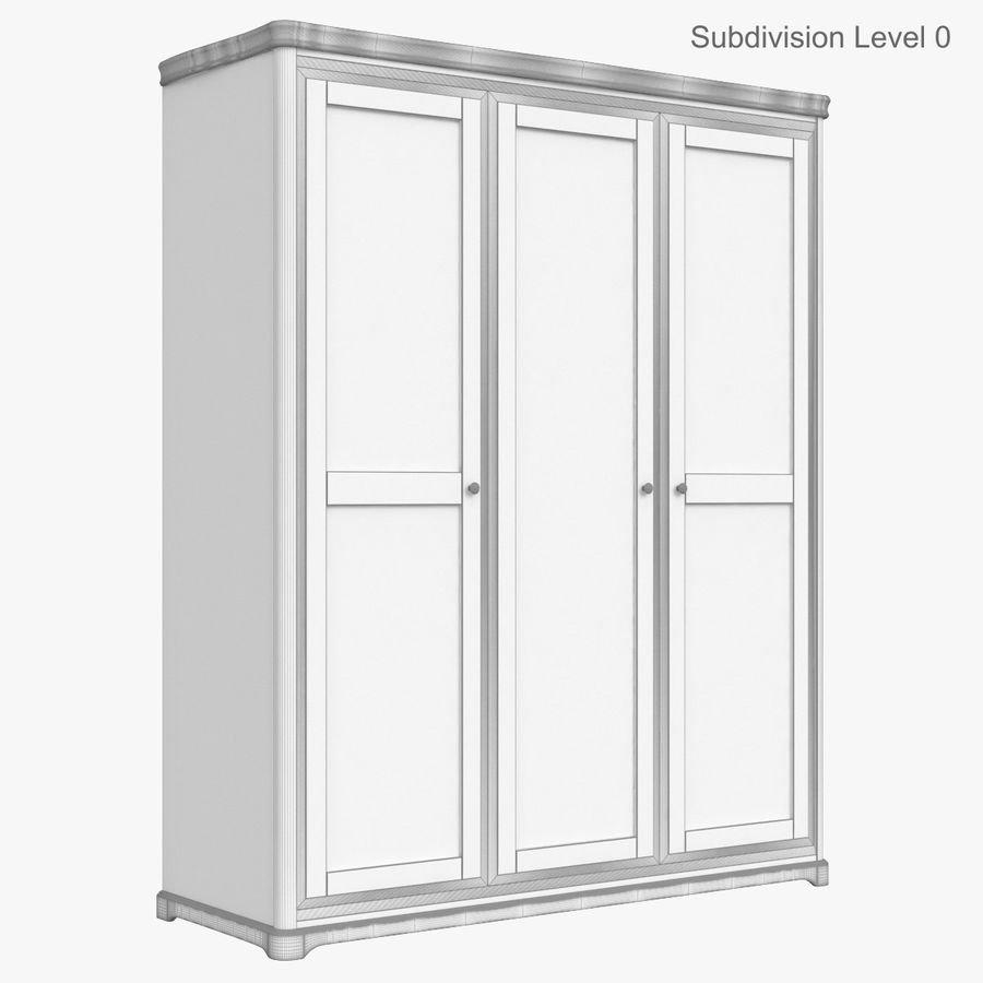 Meble Klasyczna drewniana szafka szafka royalty-free 3d model - Preview no. 13