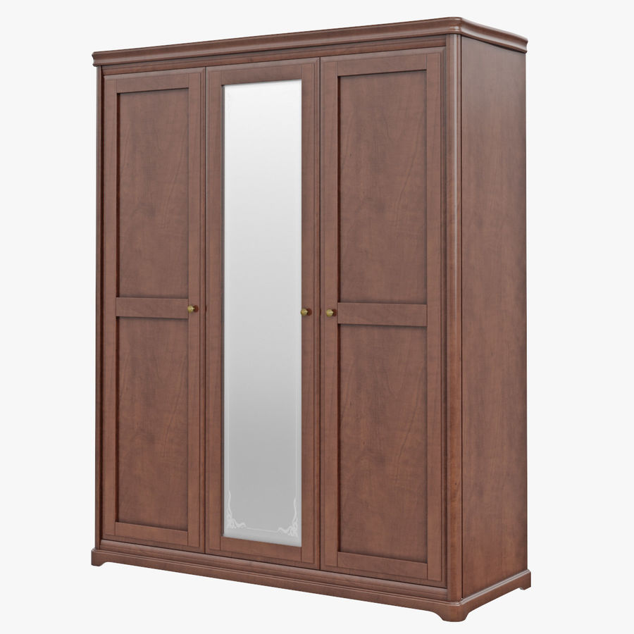 Furniture Classic Wooden Cabinet Cupboard royalty-free 3d model - Preview no. 1