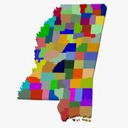 Kaart van de provincie - Mississippi 3d model