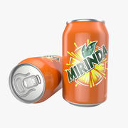 Aluminum Can 0.33L Mirinda 3D Model 3d model
