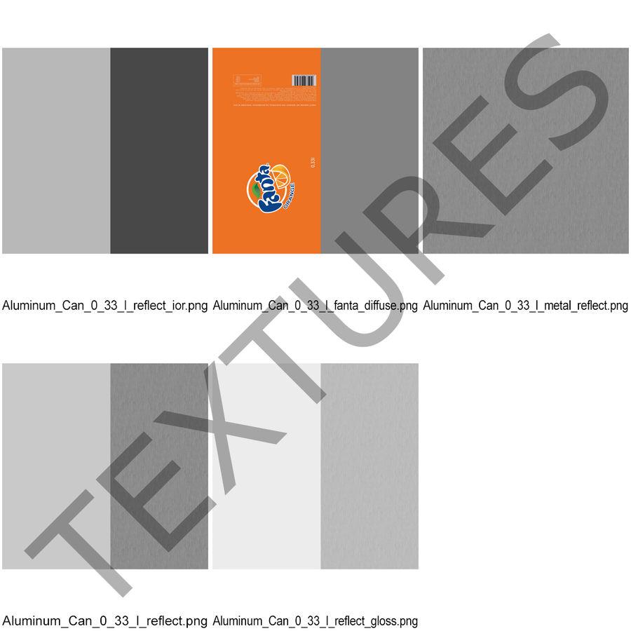 Aluminum Can 0.33L Fanta 3D Model royalty-free 3d model - Preview no. 16