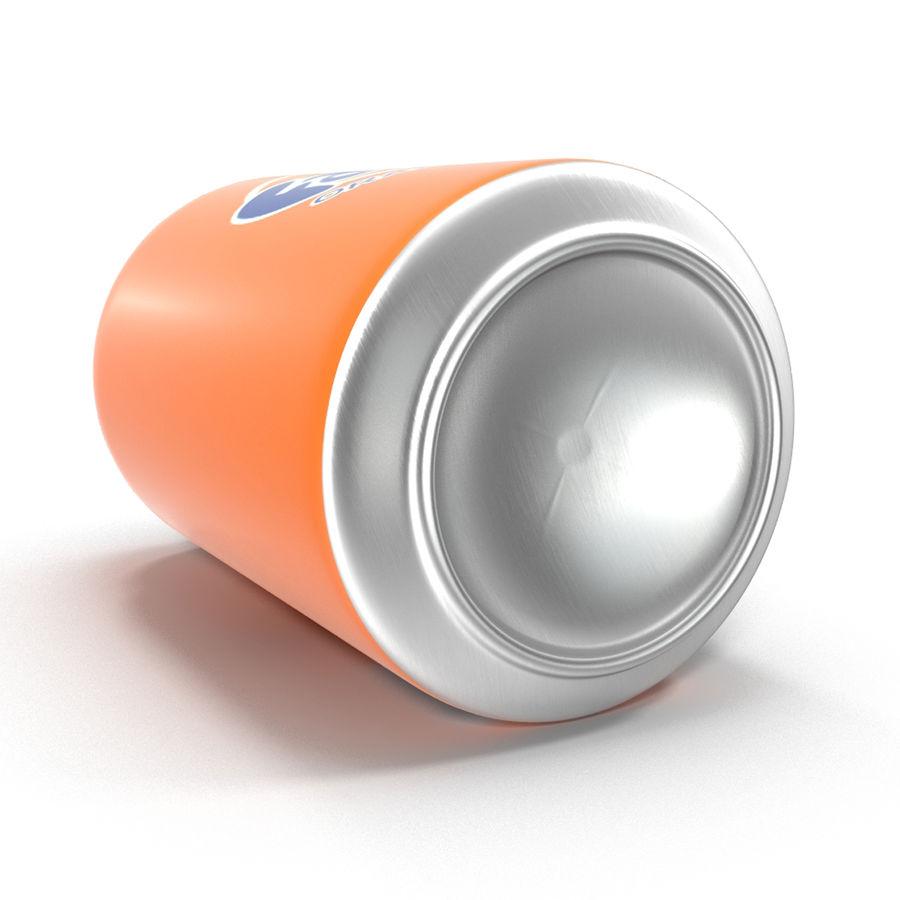 Aluminum Can 0.33L Fanta 3D Model royalty-free 3d model - Preview no. 9
