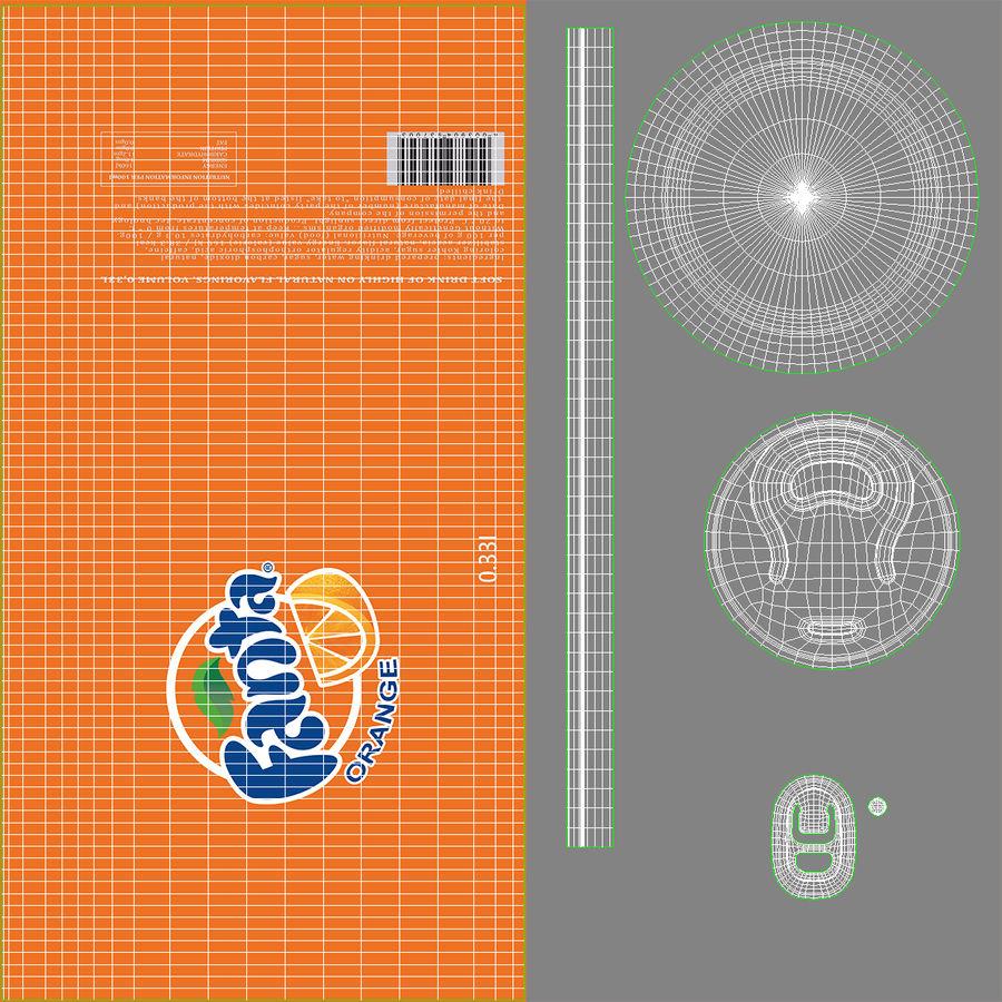 Aluminum Can 0.33L Fanta 3D Model royalty-free 3d model - Preview no. 15