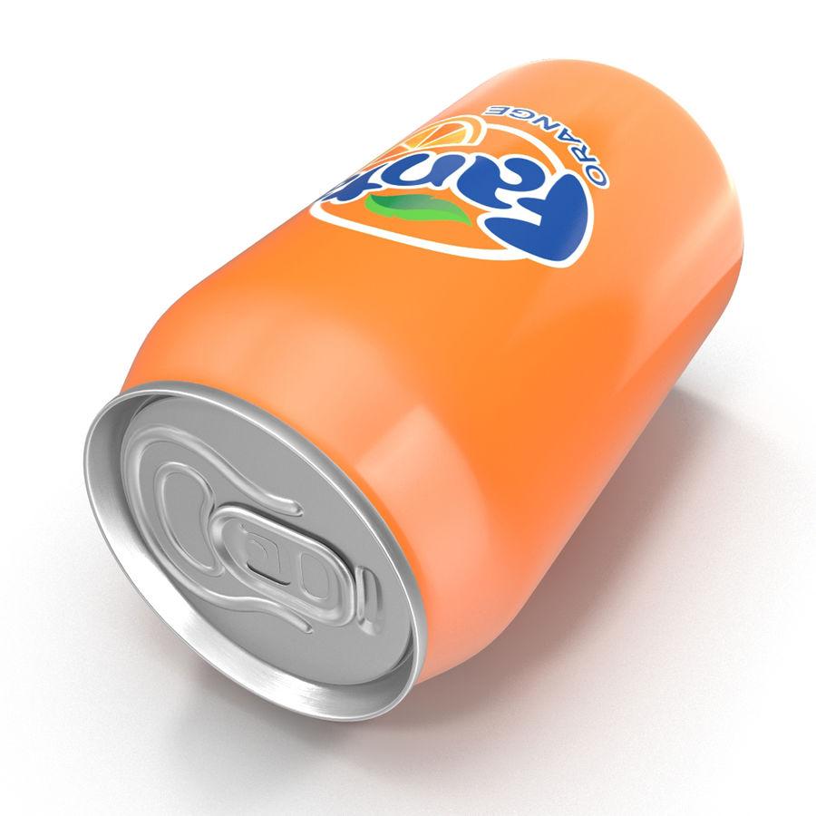 Aluminum Can 0.33L Fanta 3D Model royalty-free 3d model - Preview no. 10