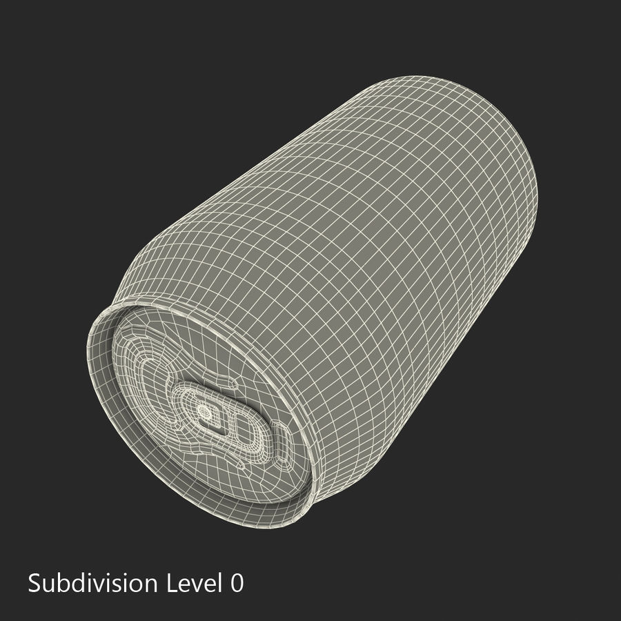 Aluminum Can 0.33L Fanta 3D Model royalty-free 3d model - Preview no. 13