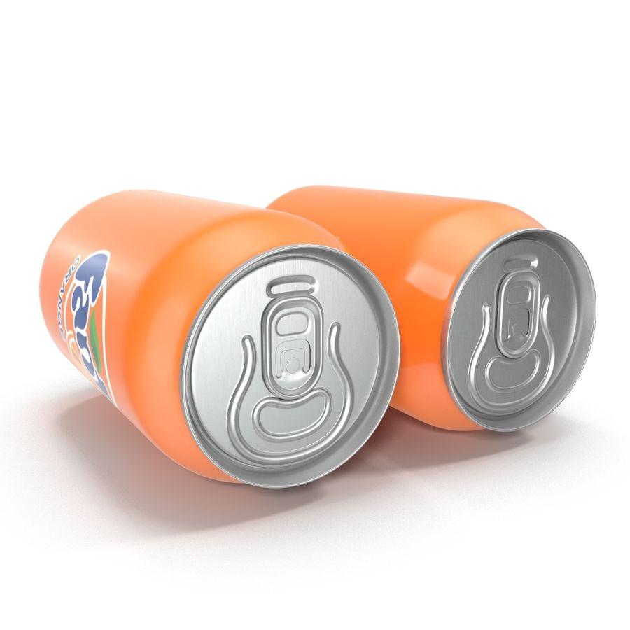 Aluminum Can 0.33L Fanta 3D Model royalty-free 3d model - Preview no. 6