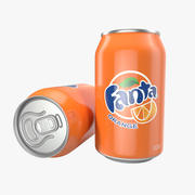 Aluminum Can 0.33L Fanta 3D Model 3d model