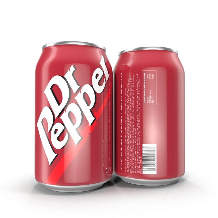 알루미늄 캔 0.33L Dr Pepper 3D 모델 royalty-free 3d model - Preview no. 3