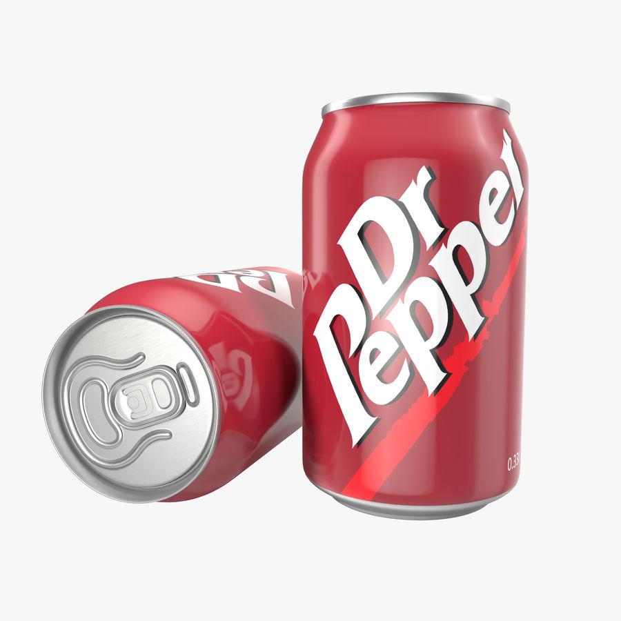 알루미늄 캔 0.33L Dr Pepper 3D 모델 royalty-free 3d model - Preview no. 1