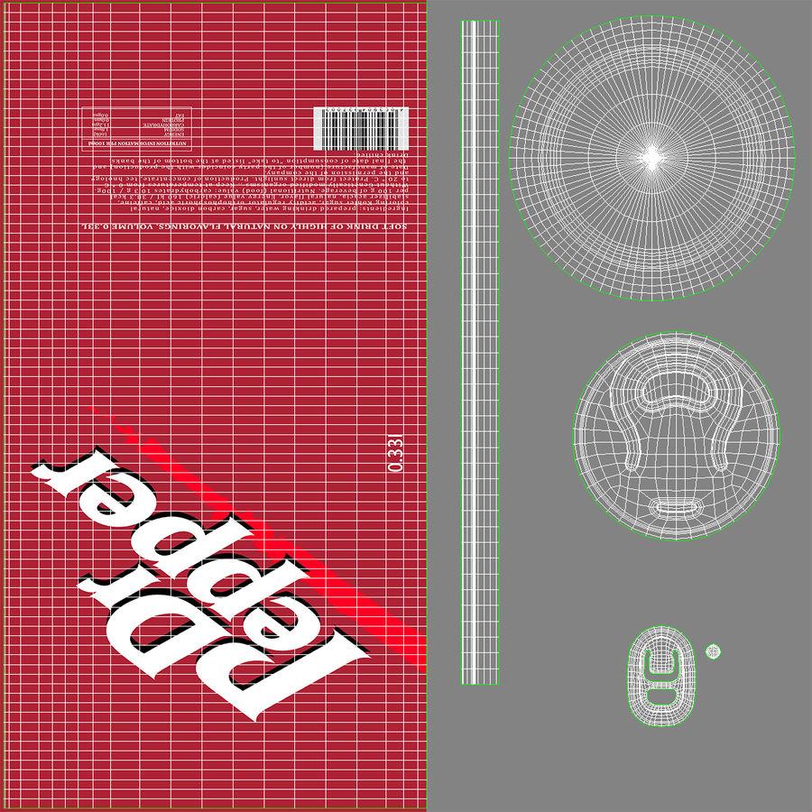 알루미늄 캔 0.33L Dr Pepper 3D 모델 royalty-free 3d model - Preview no. 14