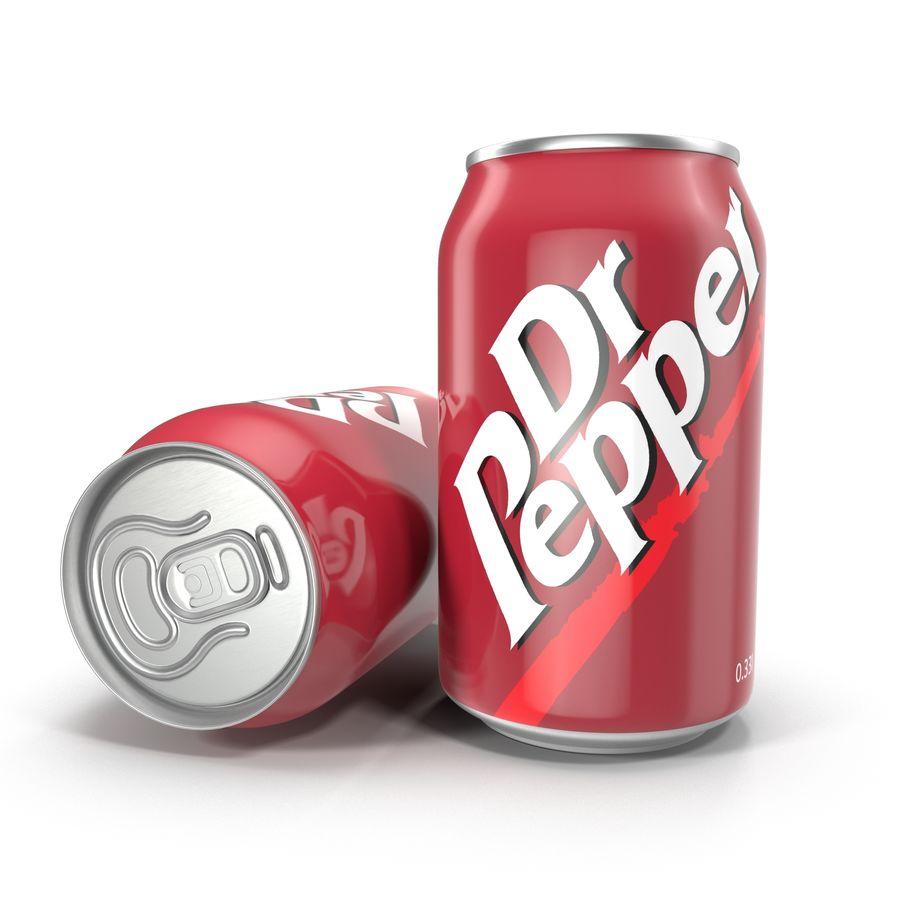 알루미늄 캔 0.33L Dr Pepper 3D 모델 royalty-free 3d model - Preview no. 2