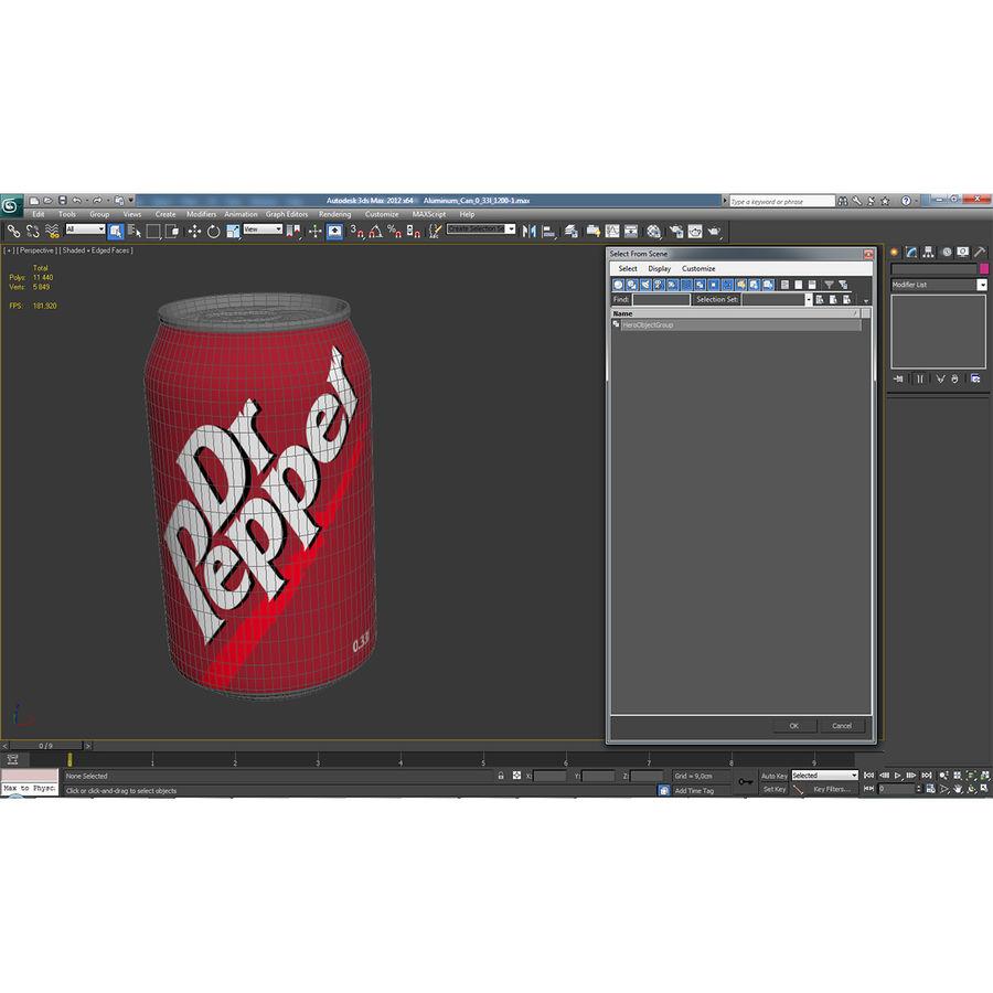 알루미늄 캔 0.33L Dr Pepper 3D 모델 royalty-free 3d model - Preview no. 16