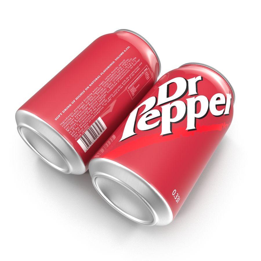 알루미늄 캔 0.33L Dr Pepper 3D 모델 royalty-free 3d model - Preview no. 5