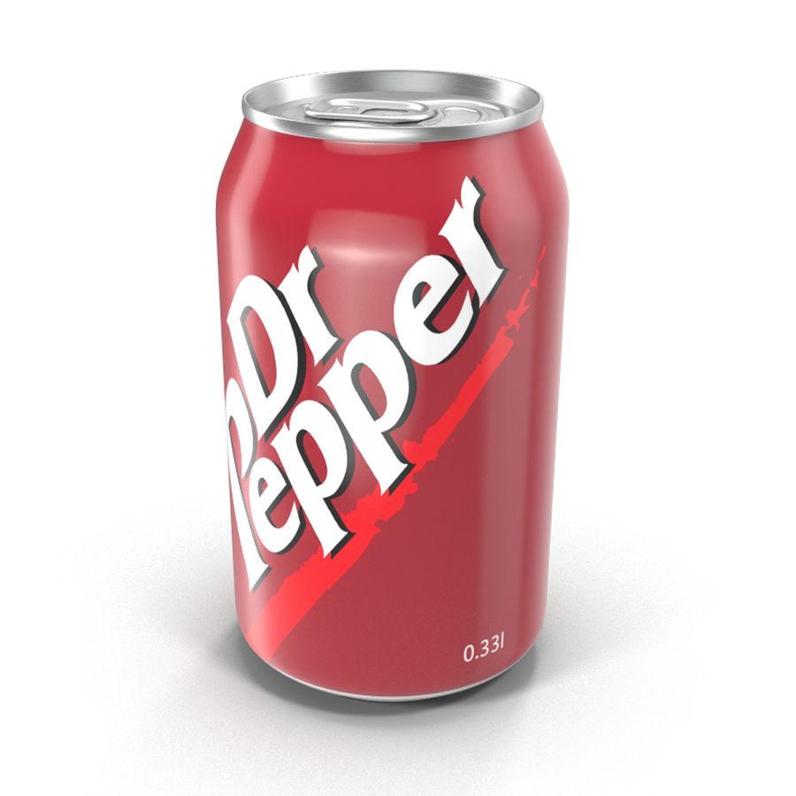 알루미늄 캔 0.33L Dr Pepper 3D 모델 royalty-free 3d model - Preview no. 6