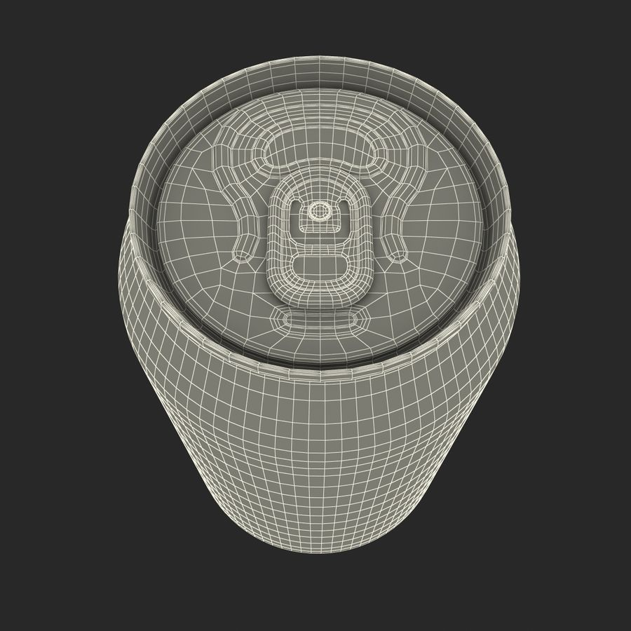 알루미늄 캔 0.33L Dr Pepper 3D 모델 royalty-free 3d model - Preview no. 18