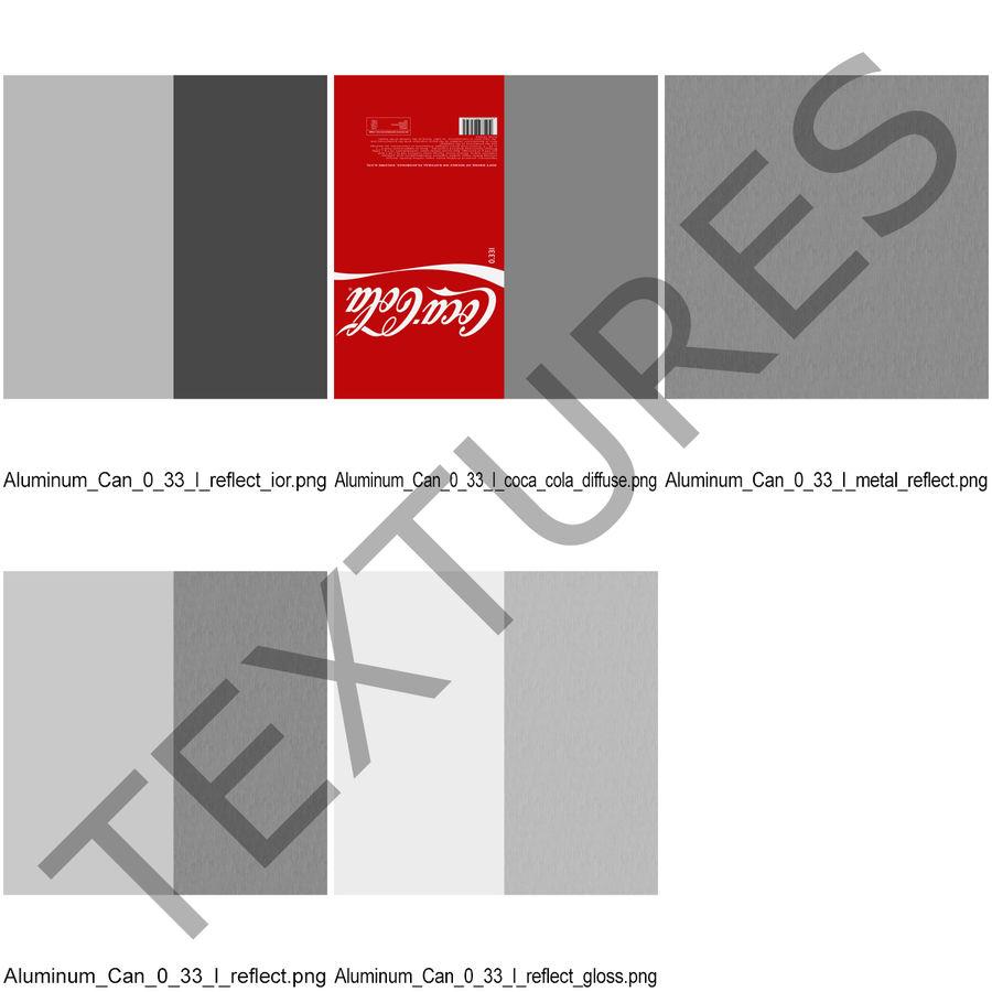 알루미늄 캔 0.33L Coca Cola 3D 모델 royalty-free 3d model - Preview no. 16
