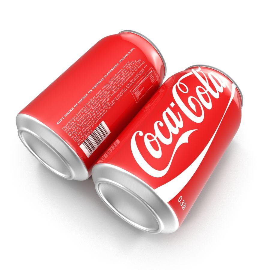알루미늄 캔 0.33L Coca Cola 3D 모델 royalty-free 3d model - Preview no. 7