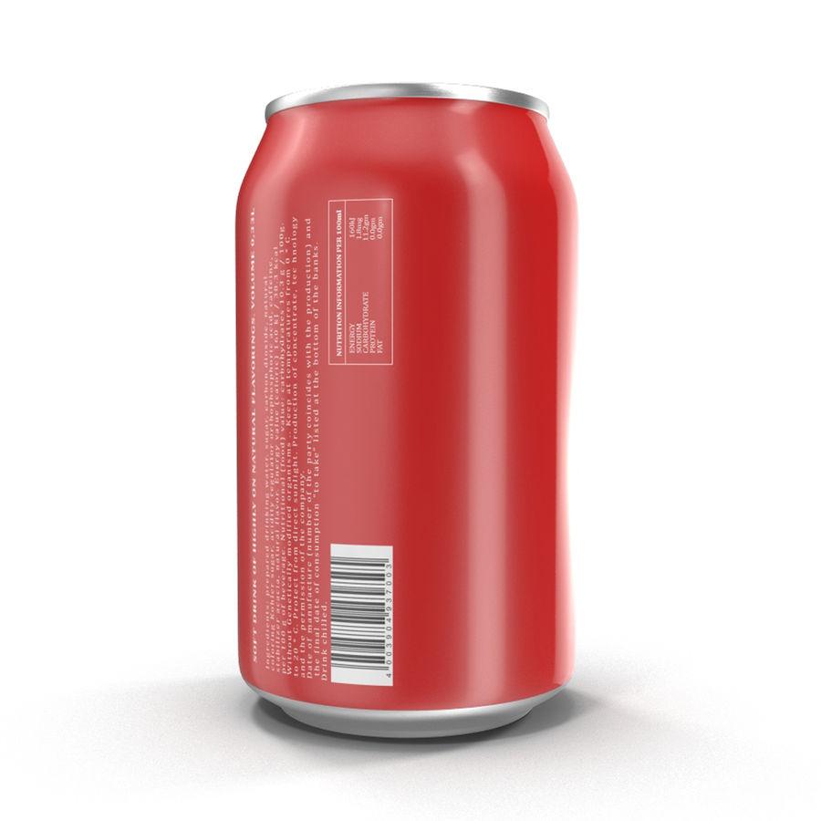 알루미늄 캔 0.33L Coca Cola 3D 모델 royalty-free 3d model - Preview no. 4